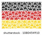 german flag mosaic combined of...