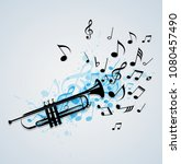 music abstract background with... | Shutterstock .eps vector #1080457490