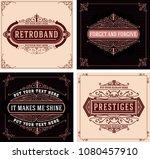 vintage logo template  hotel ... | Shutterstock .eps vector #1080457910
