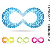 vector illustration of infinity ... | Shutterstock .eps vector #108046358