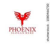 bird phoenix logo vector | Shutterstock .eps vector #1080466730