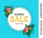 summer sale background layout... | Shutterstock . vector #1080469469