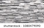 realistic stone decorated... | Shutterstock . vector #1080479090