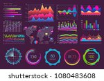 multicolored charts and various ... | Shutterstock .eps vector #1080483608
