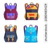 set of rucksacks for girls and... | Shutterstock .eps vector #1080485429