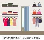 women shop interior colorful... | Shutterstock .eps vector #1080485489