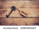 business concept old key... | Shutterstock . vector #1080485669