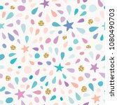 festive seamless pattern with... | Shutterstock .eps vector #1080490703