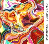 a psychedelic  bright and... | Shutterstock . vector #1080494750