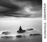 lotus pose in yoga practice  ... | Shutterstock . vector #1080499529