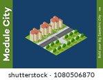 isometric 3d trees forest... | Shutterstock .eps vector #1080506870