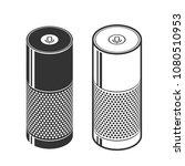 silhouettes of smart speaker.... | Shutterstock .eps vector #1080510953