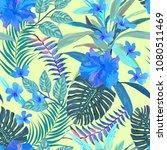 floral seamless pattern.... | Shutterstock .eps vector #1080511469