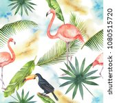 watercolor seamless pattern of... | Shutterstock . vector #1080515720