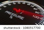 Pressure Meter Or Indicator. 3d ...