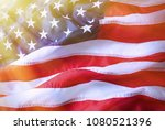 american flag background.... | Shutterstock . vector #1080521396