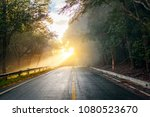road through the autumnal...   Shutterstock . vector #1080523670