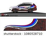 suv car graphics for vinyl wrap.... | Shutterstock .eps vector #1080528710