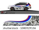 suv car graphics for vinyl wrap.... | Shutterstock .eps vector #1080529136