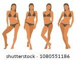 vector illustration of woman in ... | Shutterstock .eps vector #1080551186