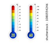 thermometer with different... | Shutterstock .eps vector #1080554246