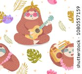 cute seamless pattern with... | Shutterstock .eps vector #1080557159
