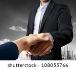 business people shaking hands | Shutterstock . vector #108055766