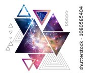 abstract hipster polygonal... | Shutterstock .eps vector #1080585404