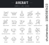 set of outline signs and... | Shutterstock .eps vector #1080585623