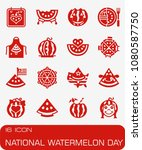 vector national watermelon day... | Shutterstock .eps vector #1080587750