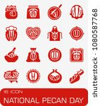 vector national pecan day icon... | Shutterstock .eps vector #1080587768