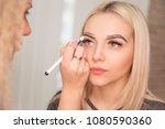 microblading  micropigmentation ... | Shutterstock . vector #1080590360