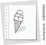ice cream doodle | Shutterstock .eps vector #108059093