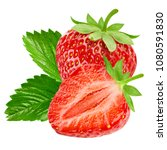 strawberry isolated on white... | Shutterstock . vector #1080591830