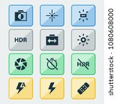 image icons set with wb sunny ... | Shutterstock . vector #1080608000