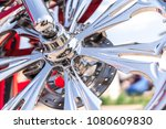 motorcycle close up. detail of... | Shutterstock . vector #1080609830