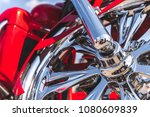 motorcycle close up. detail of... | Shutterstock . vector #1080609839