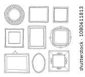 decorative set template photo... | Shutterstock .eps vector #1080611813