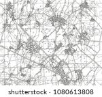 abstract geographical map.... | Shutterstock . vector #1080613808