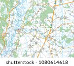 abstract geographical map.... | Shutterstock . vector #1080614618