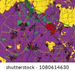 abstract geographical map.... | Shutterstock . vector #1080614630