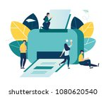 vector illustration  a flat... | Shutterstock .eps vector #1080620540