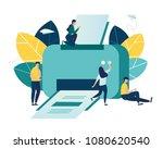 vector illustration  a flat... | Shutterstock .eps vector #1080620540
