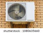 outdoor unit of air conditioner ... | Shutterstock . vector #1080635660