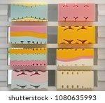 memory foam bed mattress cross...   Shutterstock . vector #1080635993