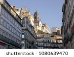 old oporto architecture. early... | Shutterstock . vector #1080639470