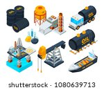 oil and gas petroleum refining. ... | Shutterstock .eps vector #1080639713