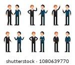two businessmen talking. vector ... | Shutterstock .eps vector #1080639770