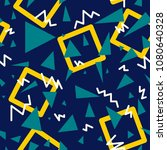 geometry seamless pattern.... | Shutterstock .eps vector #1080640328