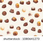 seamless vector pattern with... | Shutterstock .eps vector #1080641273